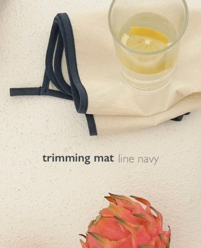 Trimming Mat: line navy