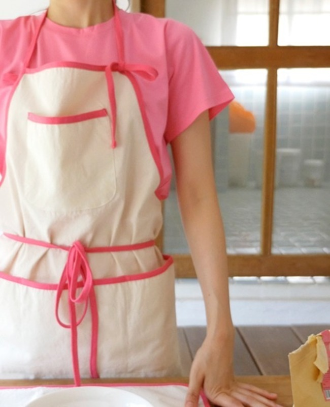 Trimming Apron: Line Pink