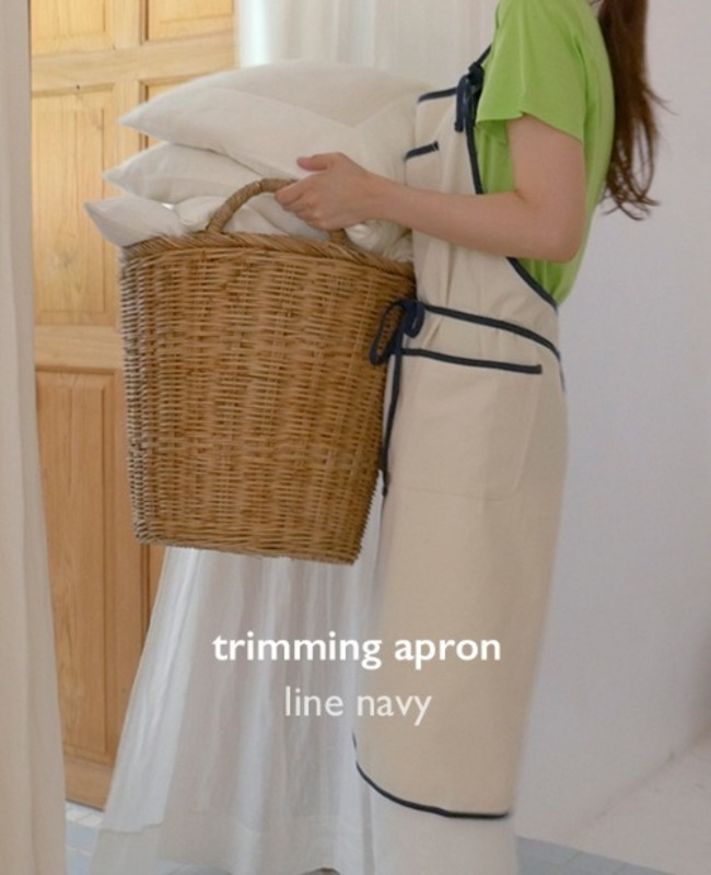 Trimming Apron: Line Navy